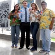 O governador Renan Filho percorreu todo o prédio do Complexo Cultural ao lado da presidente da Diteal, Sheila Maluf (Fotos: Márcio Ferreira)