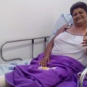 Dona Maria Aparecida dos Santos é um exemplo de quando a saúde pública funciona, os resultados aparecem. (Foto: Neide Brandão)