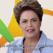 Em vídeo publicado no Facebook, Dilma afirma que Brasil obteve resultado histórico no Panamericano de Toronto. (Foto: Reprodução / Facebook)