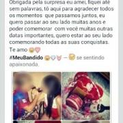 Post de jovem no Facebook considerado apologia ao crime (Foto: Divulgação/Polícia Civil de MS)