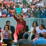 Presidente Dilma participa do encerramento da 5ª Marcha das Margaridas, no estádio Mané Garrincha (Fabio Rodrigues Pozzebom/Agência Brasil)