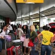 Em 2015, 714.436 passageiros já desembarcaram no Aeroporto Zumbi dos Palmares. Em meio a um cenário de recessão, o número é comemorado pela Sedetur (Foto: Adailson Calheiros)