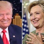 Donald Trump em Nova York, no dia 15 de setembro, e Hillary Clinton em Filadélfia, na Pensilvânia, em 19 de setembro (Foto: Andrew Lipovsky/NBC via AP/Reuters/Carlos Barria)