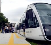 O Trem do Veículo Leve sobre Trilhos voltou a funcionar plenamente no início da tarde (Arquivo/Fernando Frazão/Agência Brasil)