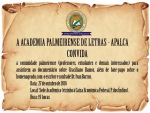 Semana Graciliânica em Palmeira @ APALCA | Palmeira dos Índios | Alagoas | Brasil