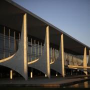 Vista do Palácio do Planalto em Brasília