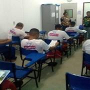 Reeducandos fazem simulado para o Enem (Foto: Ascom/SSP)