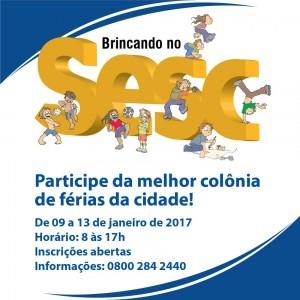Abertas as inscrições para a colônia de férias do sesc @ Unidade Sesc Guaxuma