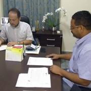 Manuilson Andrade,(Prefeito) e Silvio Cesar ,(Secretário de Cultura e Turismo)