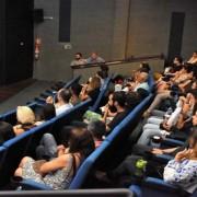 Exibição lotou a sala do Cine Art Pajuçara (Foto: Neno Canuto)