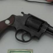 Arma apreendida ( Foto: ASCOM / PC
