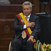 Lenín em cerimônia de posse na Assembleia nacional equatoriana (Foto: Rodrigo Buendia/AFP)