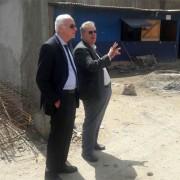 Desembargador Pedro Augusto e juiz Alberto Almeida, em visita às obras.