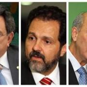 O assessor especial do presidente Michel Temer e os ex-governadores Agnelo Queiroz e José Roberto Arruda (Montagem O GLOBO)