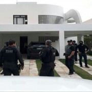 Operação cumpriu um mandado de prisão contra o ex-prefeito de Girau do Ponciano Fábio Rangel Nunes de Oliveira (Foto: Assessoria/MPE)