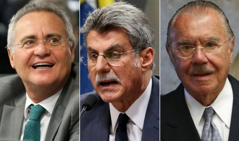 Renan Calheiros, Romero Jucá e José Sarney (Foto: Wilson Dias/Agência Brasil; Marcelo Camargo/Agência Brasil )