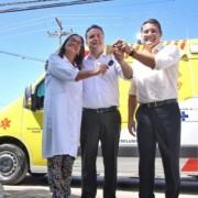 Ambulâncias servirão para fazer a transferência de pacientes das unidades de saúde para leitos de retaguarda(Fotos: Anderson Moreira)