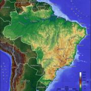 Brasil mapa físico