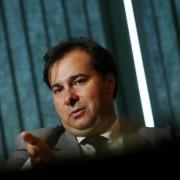 Presidente da Câmara dos Deputados, Rodrigo Maia (DEM-RJ), durante entrevista com a Reuters em Brasília (Foto: REUTERS/Adriano Machado)