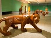 Até o dia 2 de setembro, a mostra em exposição traz animais como macacos, elefantes e leões. Foto: Adalberto Farias