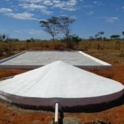 Cada cisterna tem capacidade para 52 mil litros de água e o prazo de construção é de um mês(Foto: Ascom/Seagri)