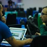 Equipe arapiraquense durante o Hackathon Insano, em Maceió