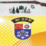Arma de fogo supostamente utilizada pelo acusado
