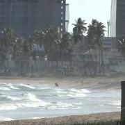 Ventos fortes atingem o litoral alagoano (Foto: Reprodução/TV Gazeta)