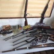 Armas apreendidas pela polícia duranteoperação no Sertão de Alagoas (Foto: PM-AL/Ascom)