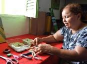 Maria Kátia da Silva, 39 anos, outra das 100 usuárias do Caps de São Miguel dos Campos sonha em montar seu prórpio negócio.  Carla Cleto
