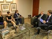 Coordenadores da Esmal estiveram com o presidente nesta segunda-feira. Fotos: Caio Loureiro.