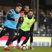 Seleção brasileira treina pra jogo contra ingleses  Créditos: Lucas Figueiredo/CBF