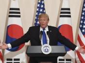 Na Coreia do Sul, Trump modera tom contra Pyongyang (foto: ANSA)