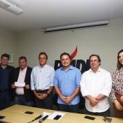 Governador e vice presidem, na sede do partido, ato político da filiação de Henrique Vilela (Porto de Pedras) e Paula Santa Rosa, de Belém