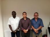 Representando o clube palmeirense estavam o ex-jogador Pinheiro, hoje, administrador do Estádio Juca Sampaio, o Controlador Geral do Município Klenaldo Oliveira e do torcedor Antônio Umbelino