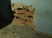 Parede danificada por detentos (Fotos:Ascom-PC)