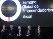 O presidente Michel Temer participa da abertura da Semana Global do Empreendedorismo 2017, na sede do Sebrae Nacional, em Brasília      Marcelo Camargo/Agência Brasil