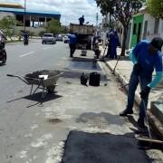 Pavimentação asfáltica se estendeu para a região central de Arapiraca com a melhoria da via no Bosque das Arapiracas