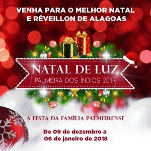 Natal de luz 2017 – Palmeira dos Índios - Programação (Praça Humberto Mendes – Praça do Skate)