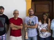 Os expositores - Arthur Celso, Jorge Vieira, Felipe Almeida, Luna Gavazza e Adilson Andrade
