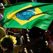 bandeira Brasil e povo