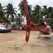 Serviço Aeromédico do Samu socorre garoto em São Miguel dos Milagres. Foto: Grupamento Aéreo