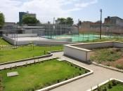 Paisagismo da Escola Edmilson Pontes que está em obras.  Foto: Valdir Rocha