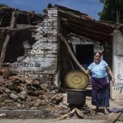Casa destruída por terremoto em Oaxaca, no México Foto: ANSA / Ansa - Brasil