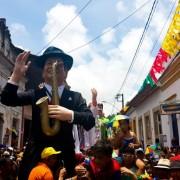 Os bonecos gigantes, tradição do carnaval pernambucano, desfilaram mais uma vez pelas ruas de OlindaSumaia Villela/Agência Brasil/Arquivo