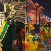 """Com o enredo """"Meu Deus, meu Deus, está extinta a escravidão?"""", o desfile da escola de samba carioca Paraíso do Tuiuti, na Marquês de Sapucaí, tem dado o que falar na internet na manhã desta segunda-feira (12)"""