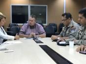 Secretário Lima Júnior afirmou que a Segurança Pública está à disposição para definir estratégias que estabilizem a segurança no campus da Ufal(Fotos: Ascom/SSP)