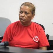 Arlene dos Santos ficou em silêncio durante todo o julgamento. Foto: Caio Loureiro