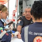 Além de se informarem de como é feito trabalho dos profissionais, as pessoas que visitarem o estande do Samu terão à disposição serviços de prevenção à saúde   Thiago Henrique e Carla Cleto