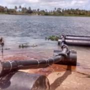 Nova estação de captação de água no rio São Francisco para atender Piaçabuçu já está em operação(Fotos: Ascom/Casal)